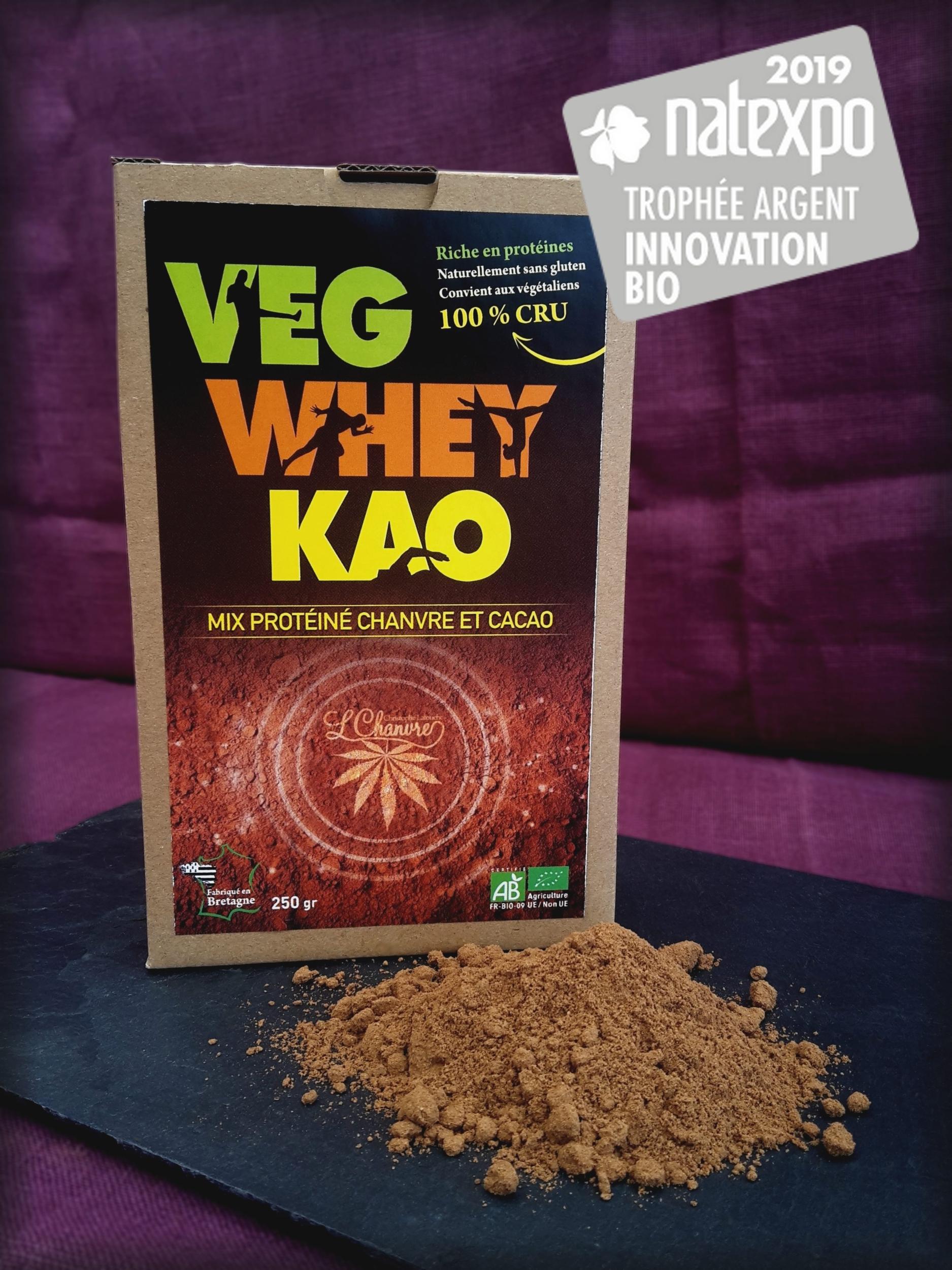 Mix protéiné chanvre & cacao Veg'Whey Kao