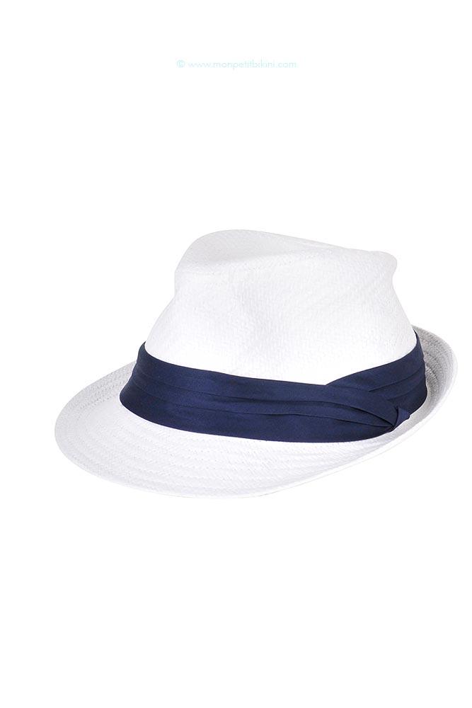 Chapeau de plage blanc Hunter Hatsy