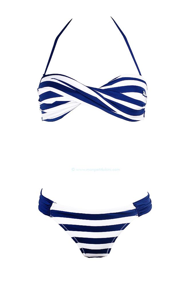 aa6bca5b6b Beau maillot de bain 2 pièces femme - Lolita angels imprimé marin