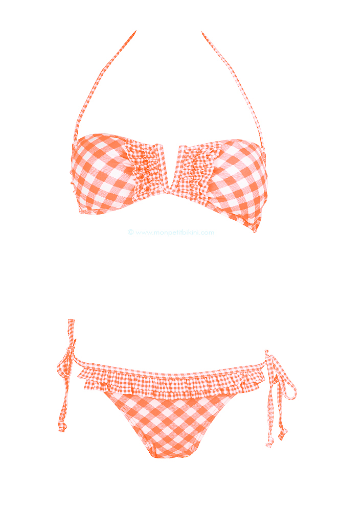 maillot de bain bandeau vichy corail maillot tendance pas cher 2013. Black Bedroom Furniture Sets. Home Design Ideas