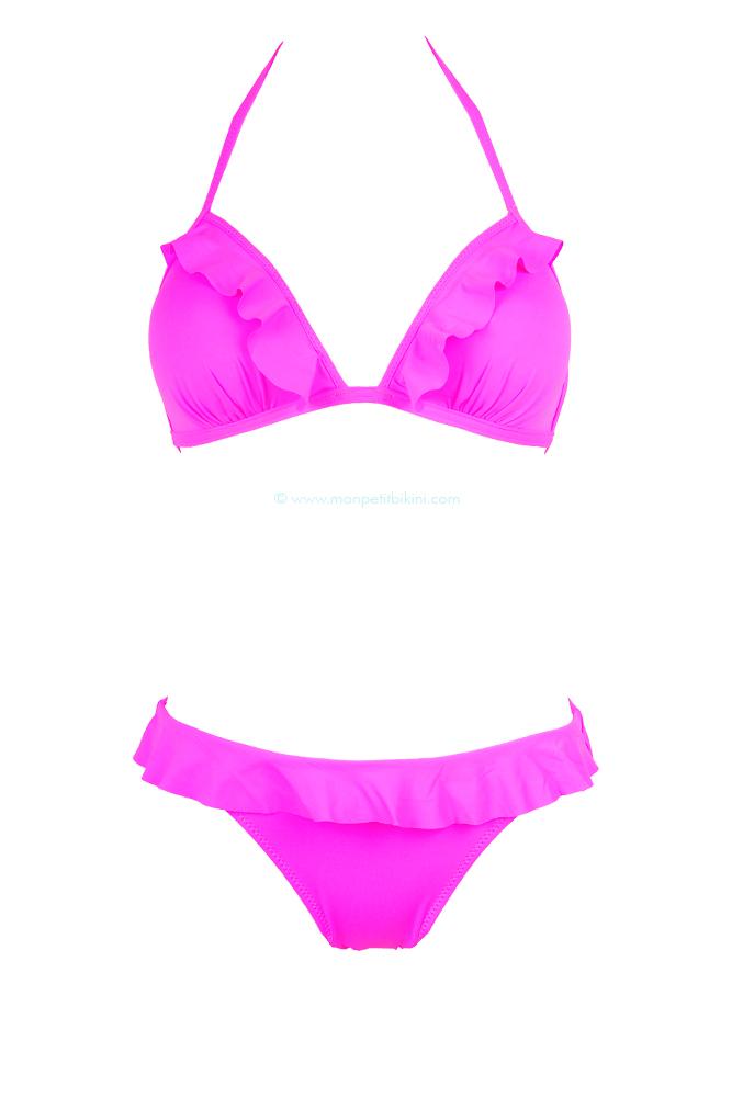 38452f2b4a Bikini 2 piéces Push up - Triangle fluo rose tendance 2013