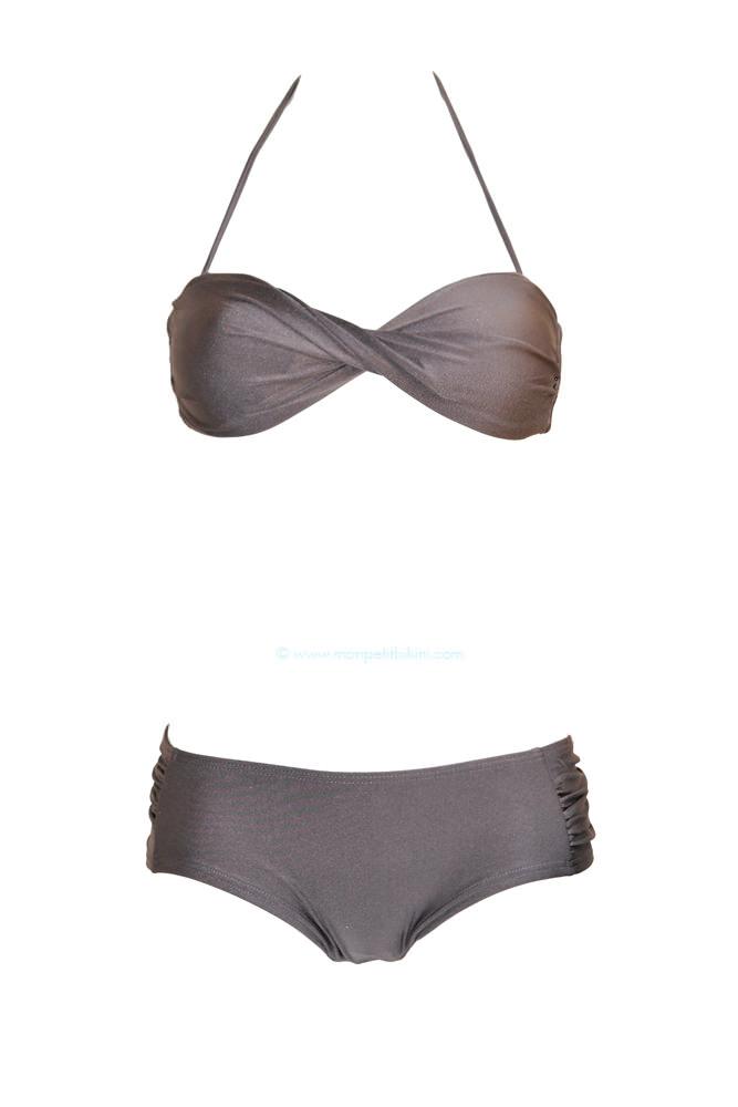 maillot de bain gris maillot de bain deux pi ces shorty pas cher. Black Bedroom Furniture Sets. Home Design Ideas