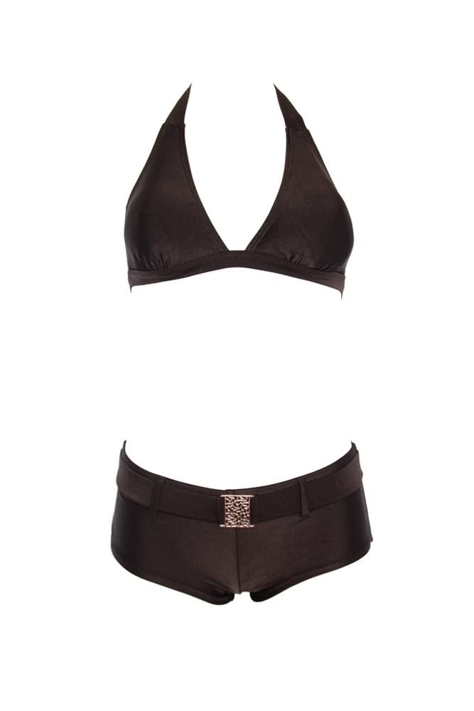 maillot de bain femme shorty marron maillots de bain maillot de bain triangle www. Black Bedroom Furniture Sets. Home Design Ideas
