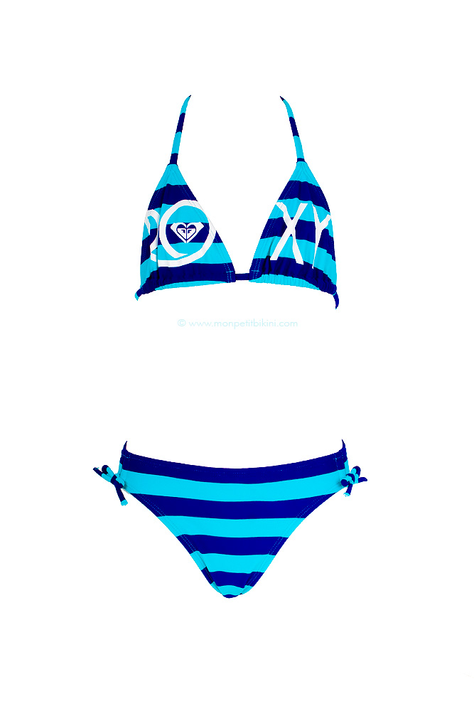 Maillot de bain enfant roxy bikini ray fille taille 8 for Maillot deux pieces piscine