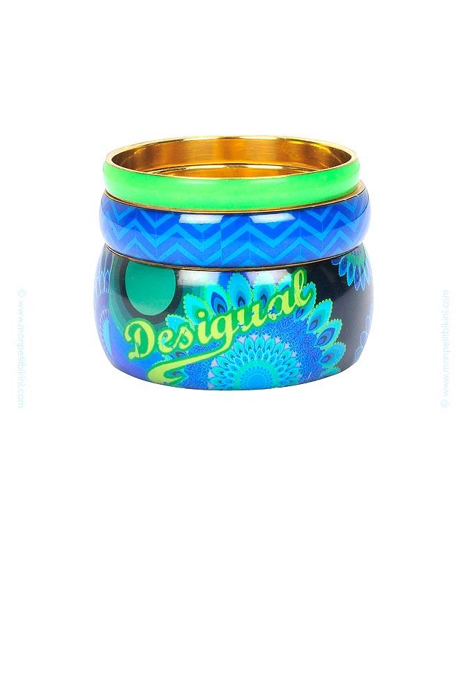 Blue Desigual Gallactic Bracelet Bleu Métal Pour Femme Y6gbf7yv