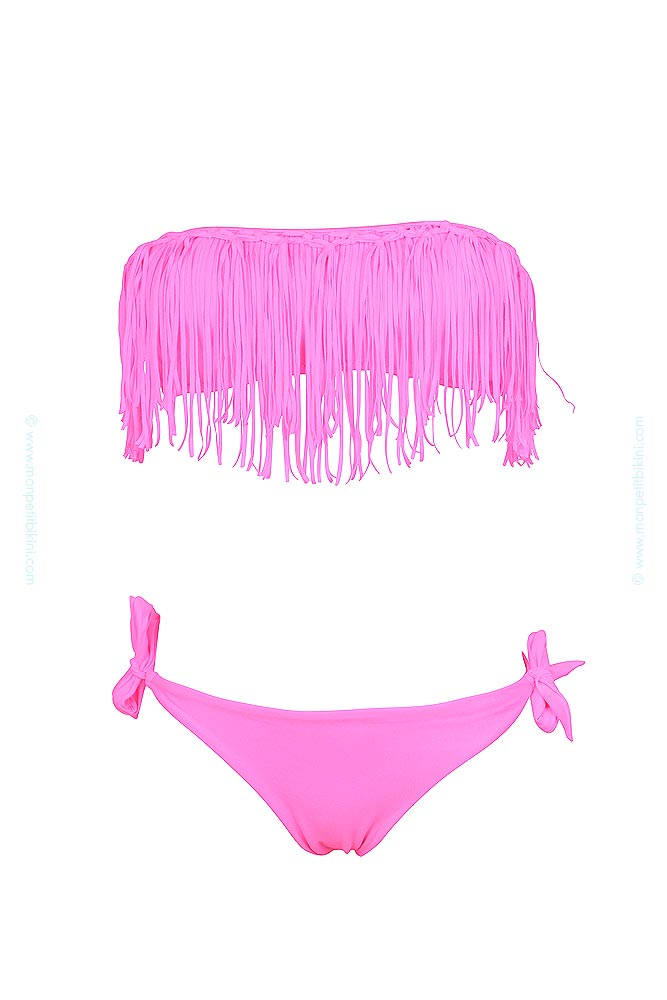 maillot franges fluo pas cher maillot de bain bandeau femme. Black Bedroom Furniture Sets. Home Design Ideas