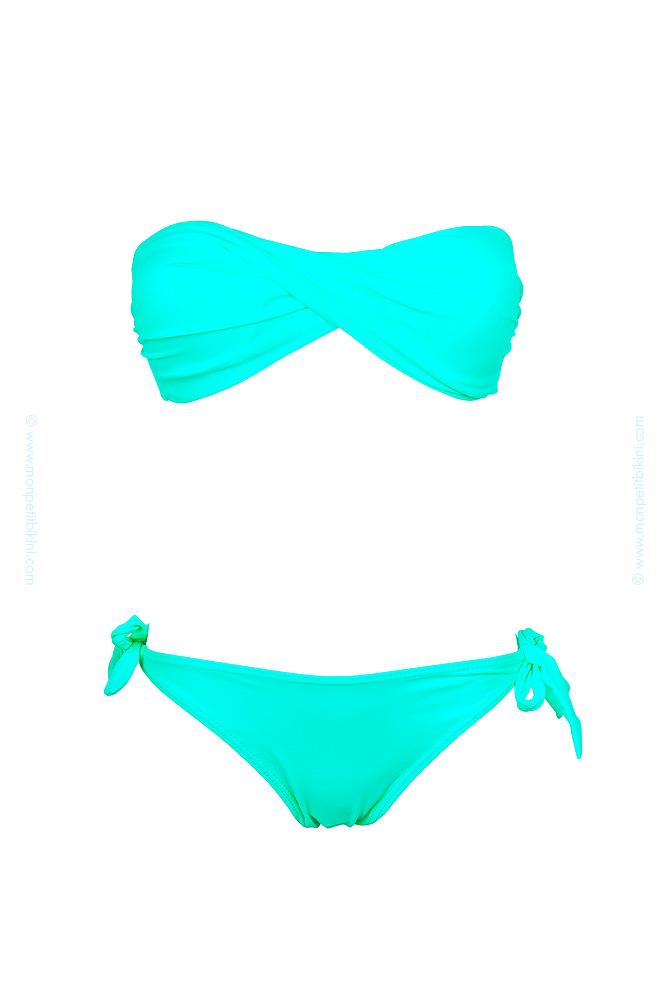 maillot de bain bandeau vert vente en ligne bikini pas cher. Black Bedroom Furniture Sets. Home Design Ideas