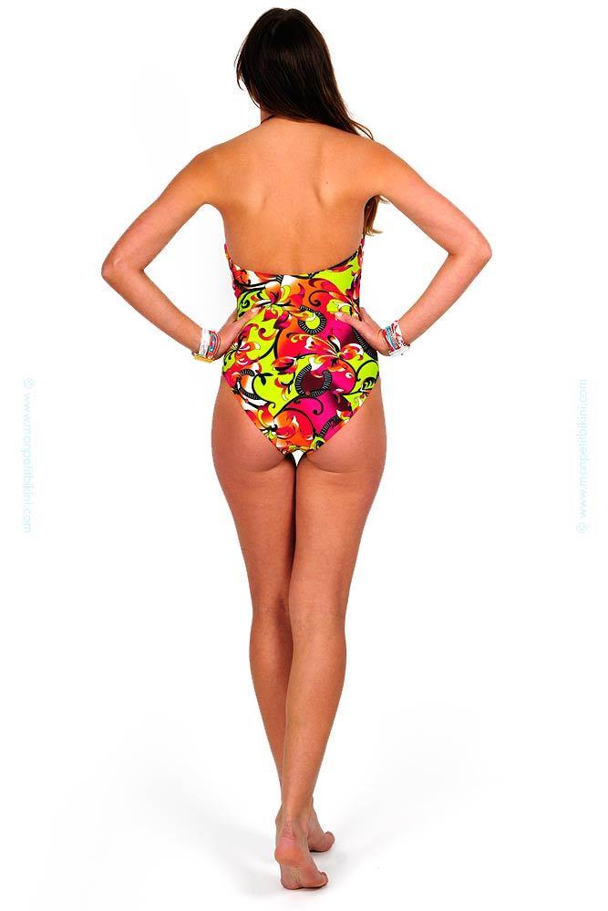 maillot de bain une pi ce vert pas cher bikini multicolore promo. Black Bedroom Furniture Sets. Home Design Ideas