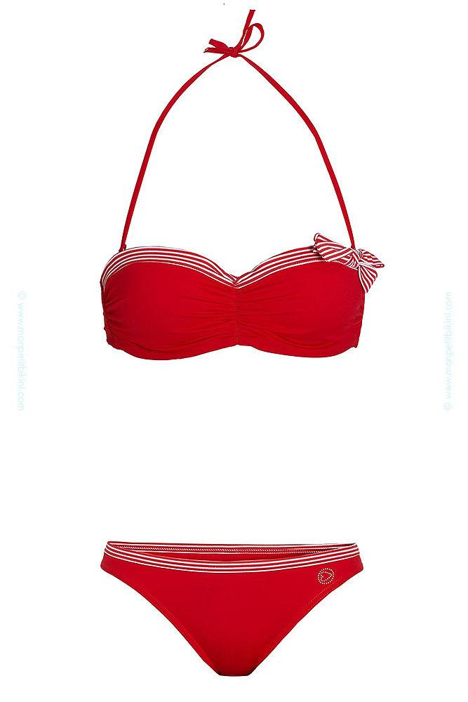 maillot de bain 2 pi ces corbeille maillot de bain femme rouge. Black Bedroom Furniture Sets. Home Design Ideas
