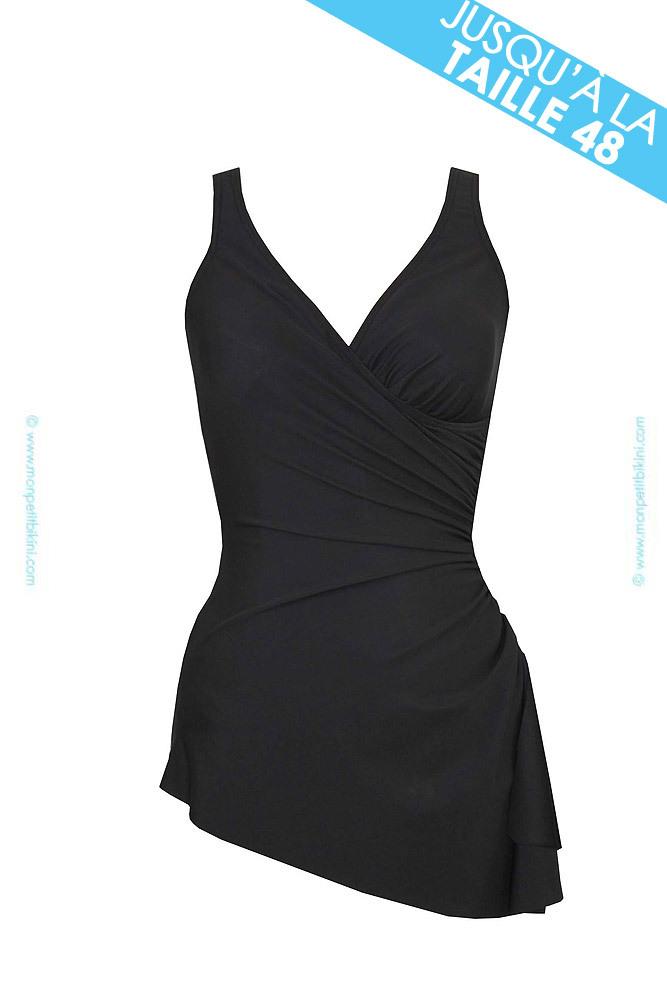maillot de bain gainant grande taille maillot de bain noir femme. Black Bedroom Furniture Sets. Home Design Ideas