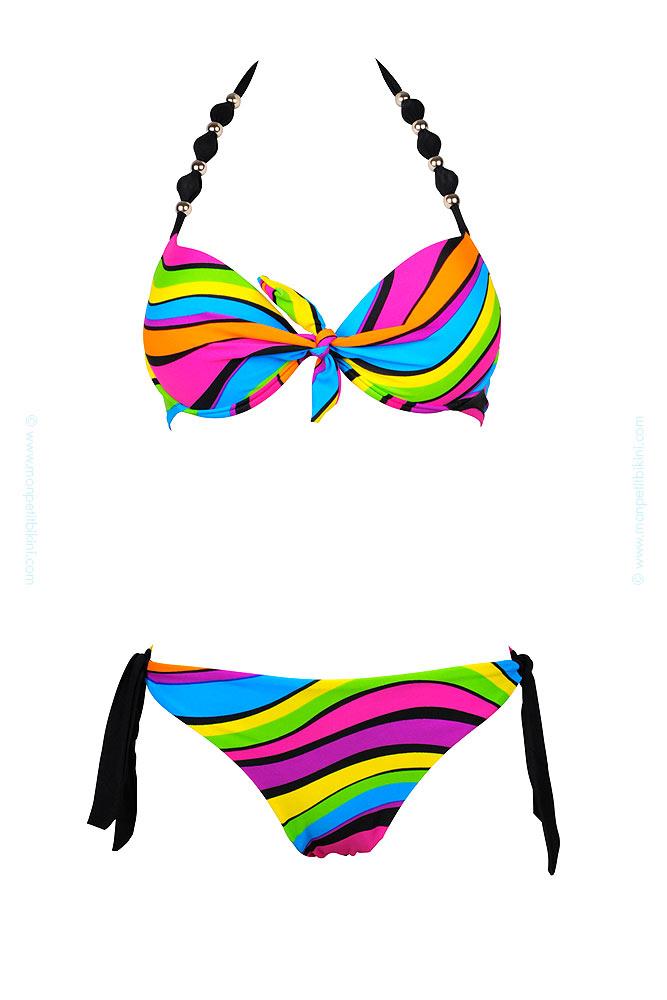 maillot de bain push up multicolore bikini pas cher push up. Black Bedroom Furniture Sets. Home Design Ideas