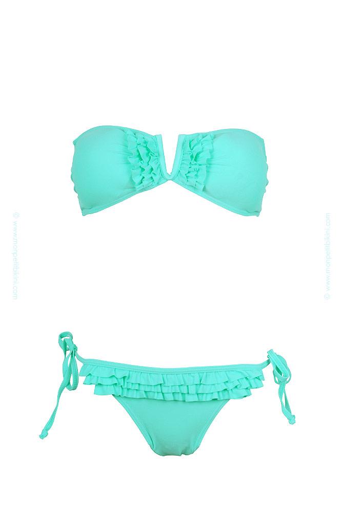 Maillot de bain femme vert - Maillot de bain deux pièces pas cher 5b5bb0efe85f