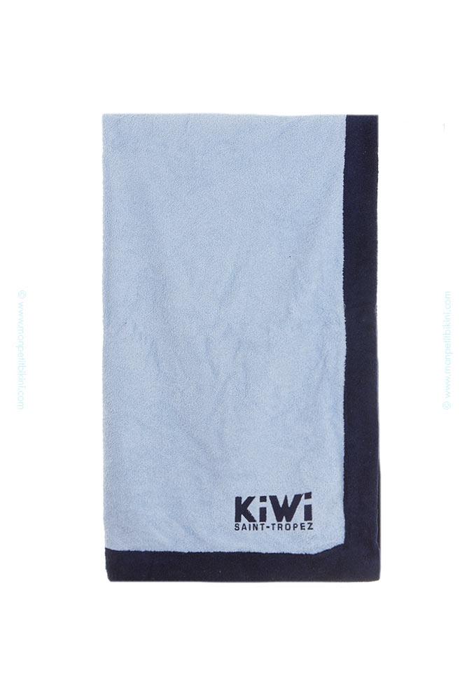 serviette de plage kiwi bleu ciel drap de bain tendance. Black Bedroom Furniture Sets. Home Design Ideas