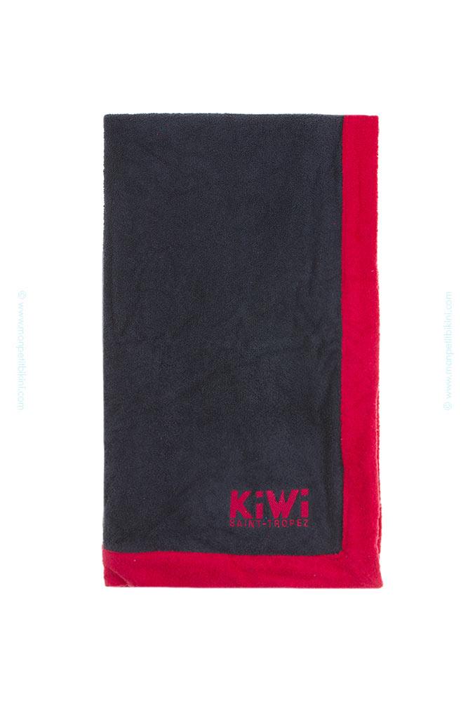 drap de plage kiwi st tropez gris serviette de bain de marque. Black Bedroom Furniture Sets. Home Design Ideas