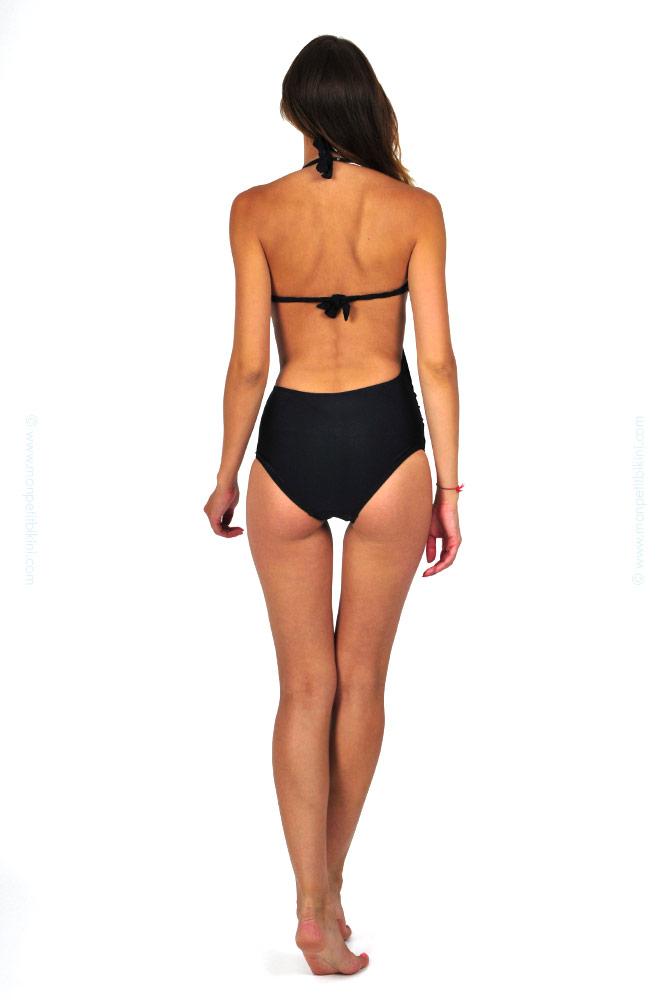 maillot de bain femme pas cher maillot de bain une pi ce noir. Black Bedroom Furniture Sets. Home Design Ideas