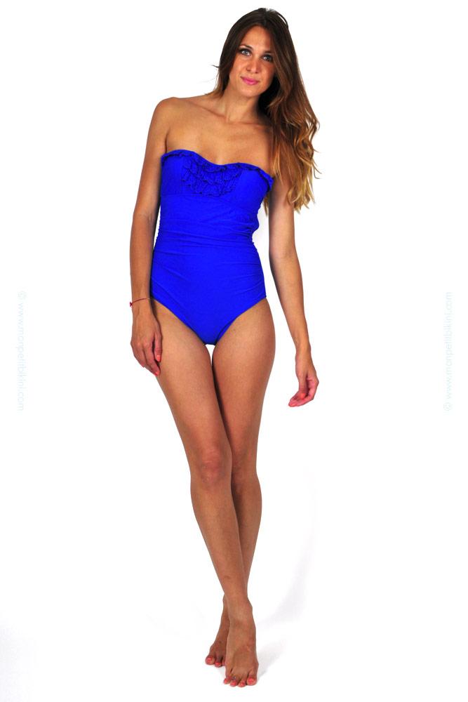 maillot de bain femme bleu 2014 maillot de bain une pi ce pas cher. Black Bedroom Furniture Sets. Home Design Ideas