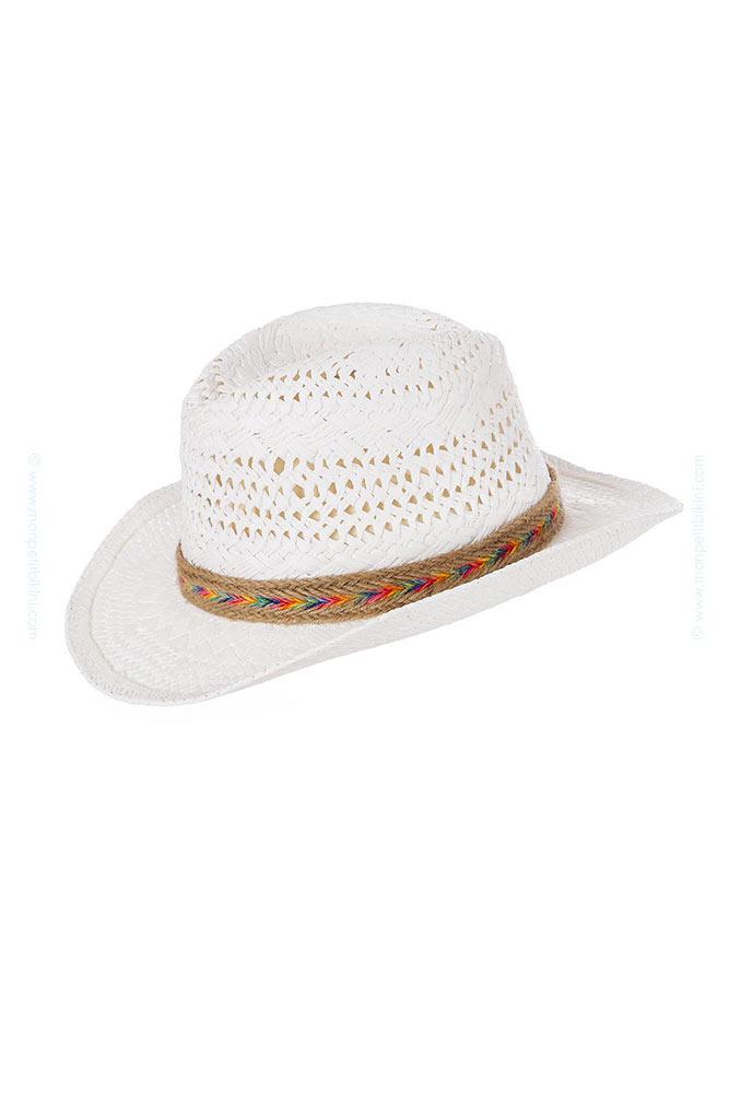 Chapeau de plage Cowboy blanc Growlers Hatsy