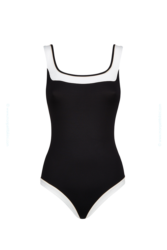 maillot nageur avec armatures huit maillot une pi ce noir smarty. Black Bedroom Furniture Sets. Home Design Ideas