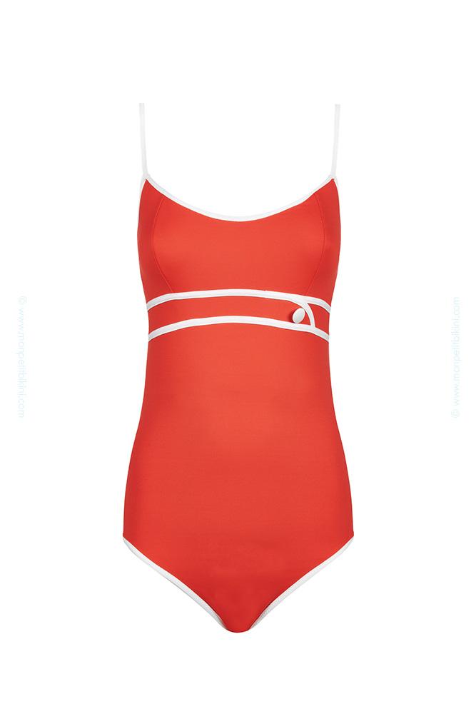 huit maillot 1 pi ce maillot de bain une pi ce rouge coming soon. Black Bedroom Furniture Sets. Home Design Ideas