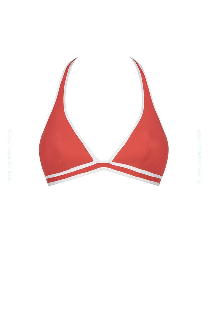 maillot de bain 2 pi ces bandeau bandeau huit rouge et blanc coming. Black Bedroom Furniture Sets. Home Design Ideas