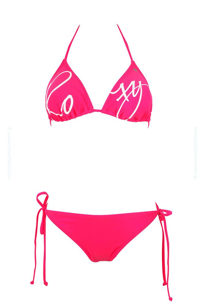 tendance maillot de bain triangle roxy bikini triangle femme rose. Black Bedroom Furniture Sets. Home Design Ideas
