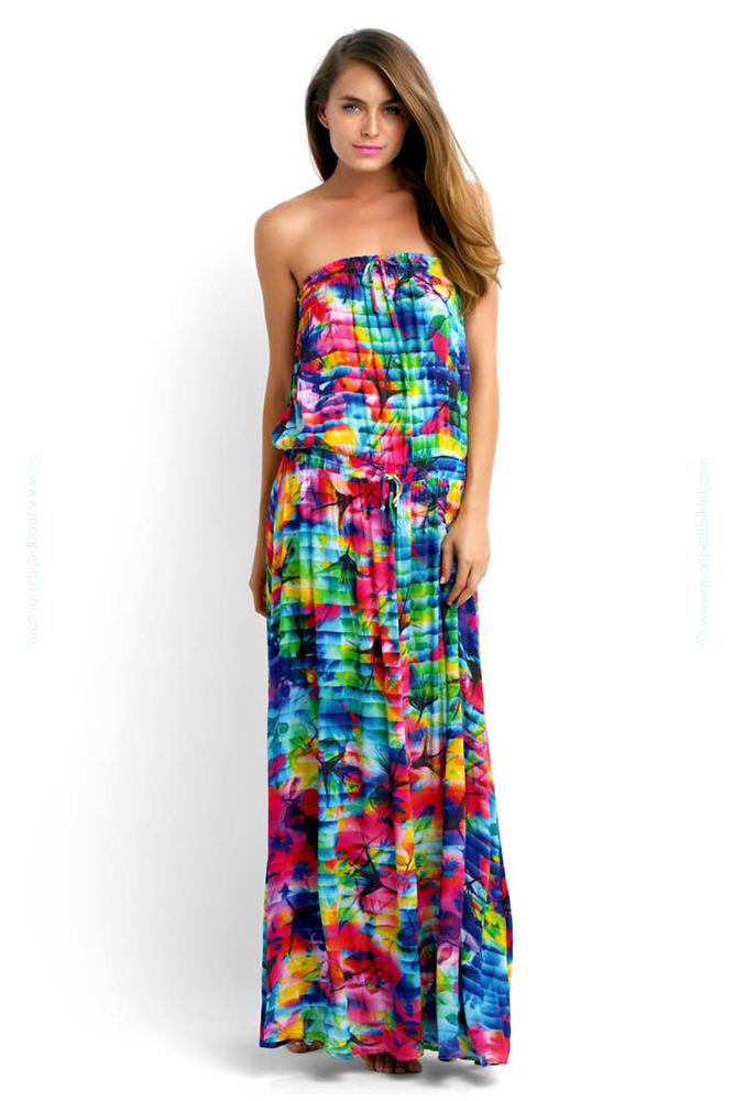 robe de plage seafolly robe longue femme imprim floral. Black Bedroom Furniture Sets. Home Design Ideas
