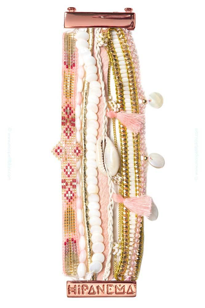 manchette br silienne borabora hipanema bracelet hipanema rose. Black Bedroom Furniture Sets. Home Design Ideas