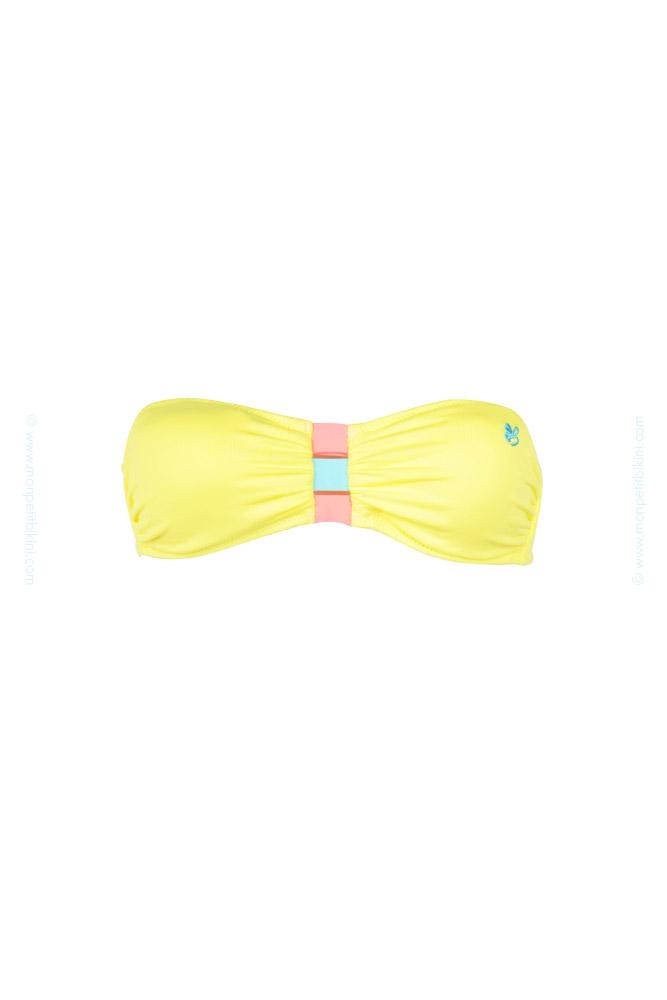 banana moon teens maillot bandeau bandeau icecream jaune 2015. Black Bedroom Furniture Sets. Home Design Ideas