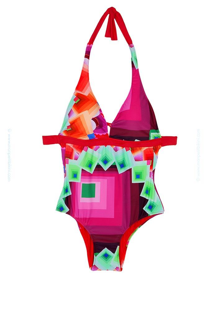 boutique officielle grandes variétés recherche de liquidation Maillot Desigual 2015 - Maillot de bain femme une pièce Veluchi