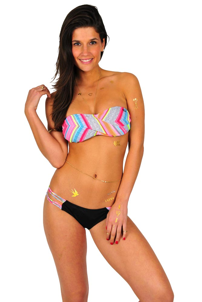 maillot bandeau rip curl tribal quest maillot multicolore noir. Black Bedroom Furniture Sets. Home Design Ideas
