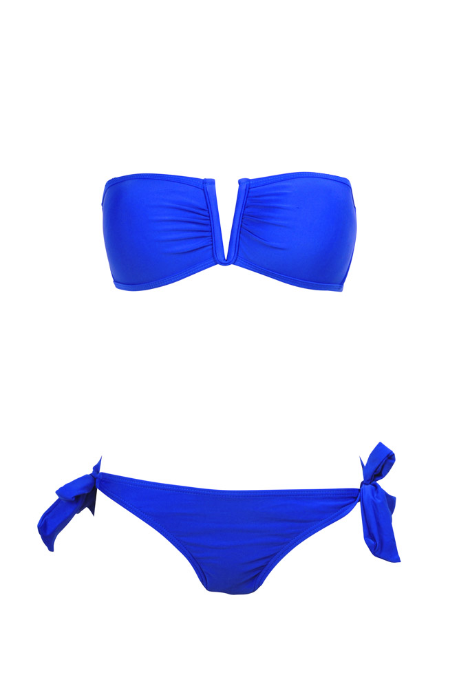 bikini bandeau bleu roi maillot de bain femme pas cher dag adom. Black Bedroom Furniture Sets. Home Design Ideas