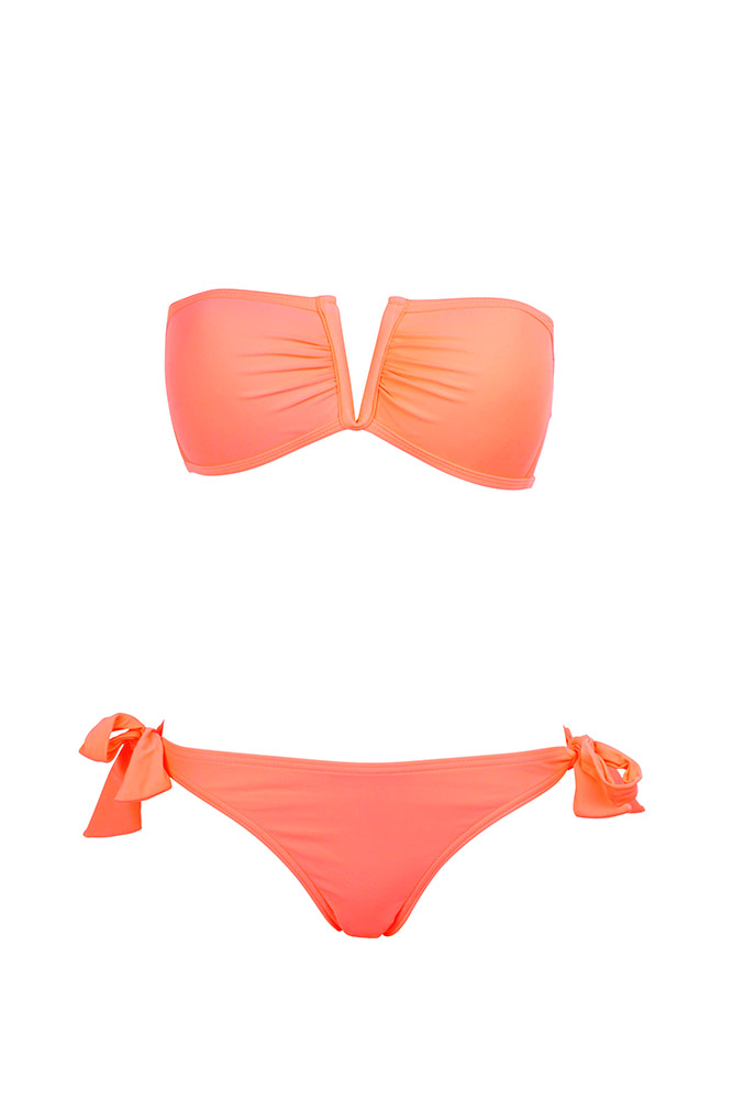 maillot de bain bandeau couleur corail monpetitbikini achat maillot. Black Bedroom Furniture Sets. Home Design Ideas