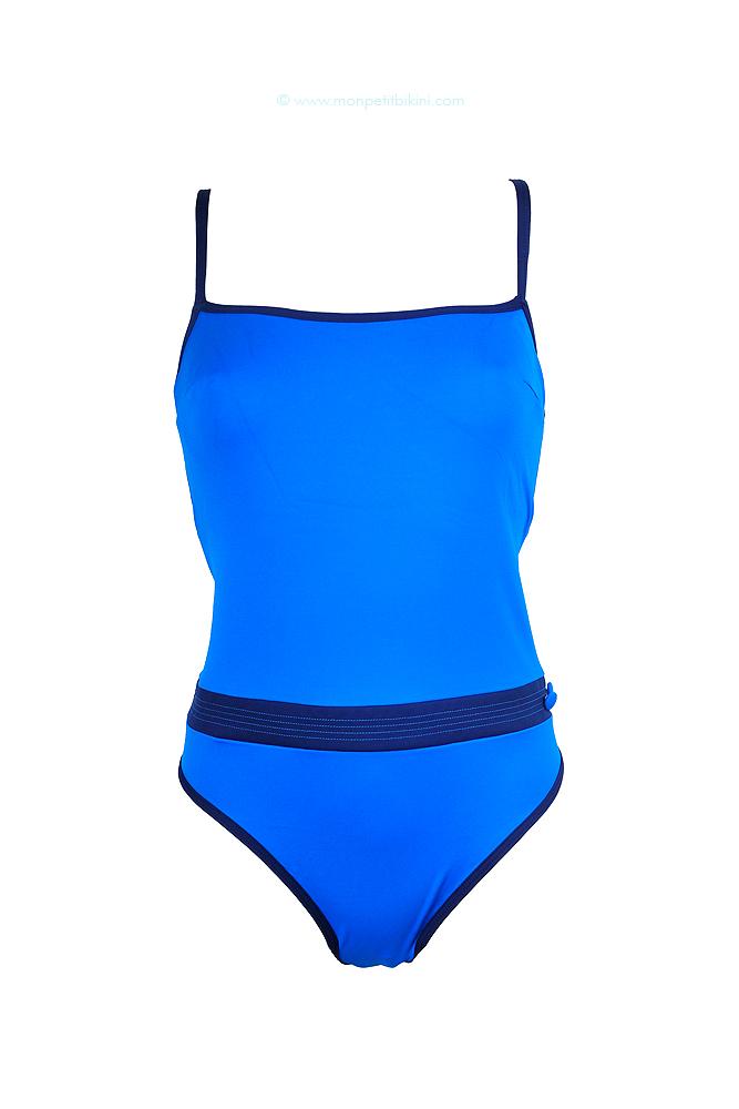 Maillot de bain une pi ce bleu huit smarty une pi ce for Maillot deux pieces piscine