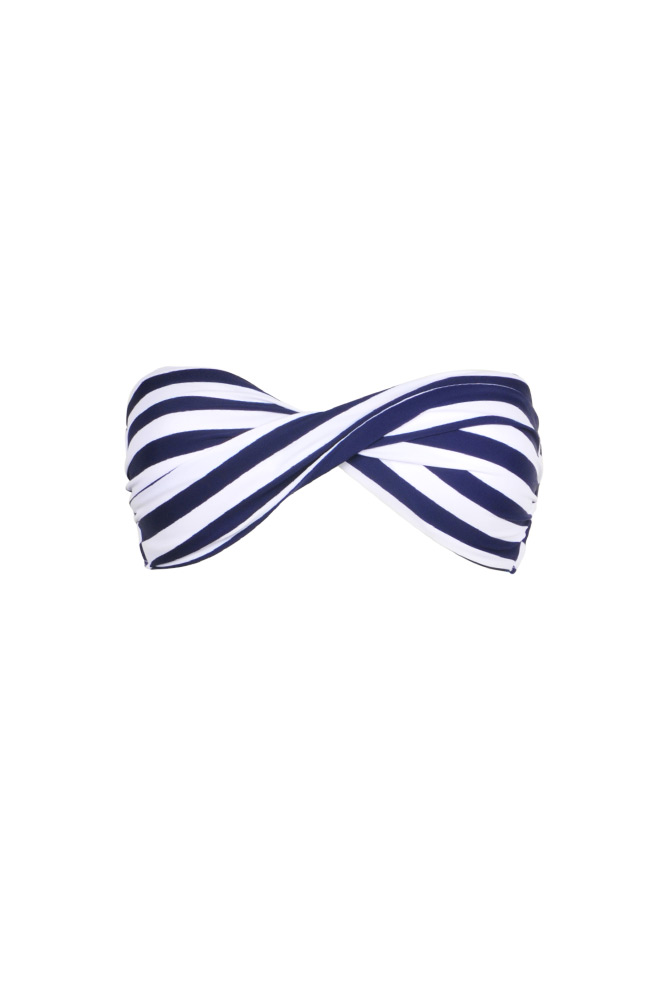 maillot-de-bain-bandeau-torsadé-à-rayures