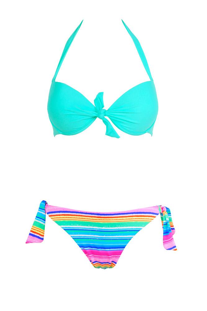 6d59256a2b Maillot de bain femme dépareillé - Bikini push up online multicolore