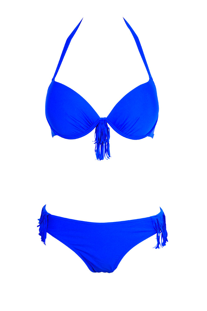 maillot de bain femme style indien 2015 bikini bleu electrique. Black Bedroom Furniture Sets. Home Design Ideas