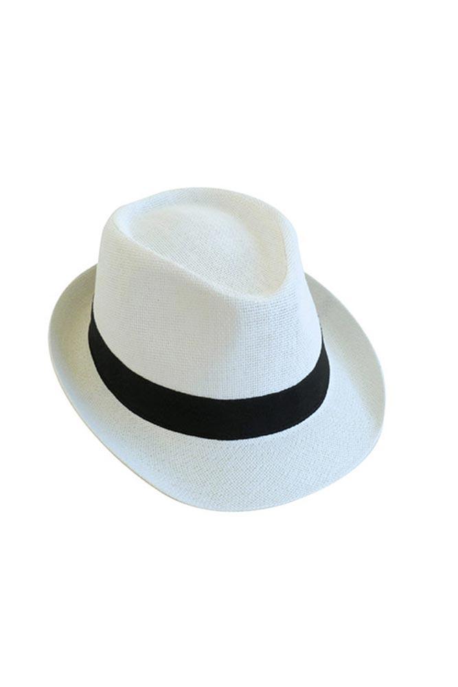 chapeau de paille blanc homme chapeau plage pas cher monpetitbikini. Black Bedroom Furniture Sets. Home Design Ideas