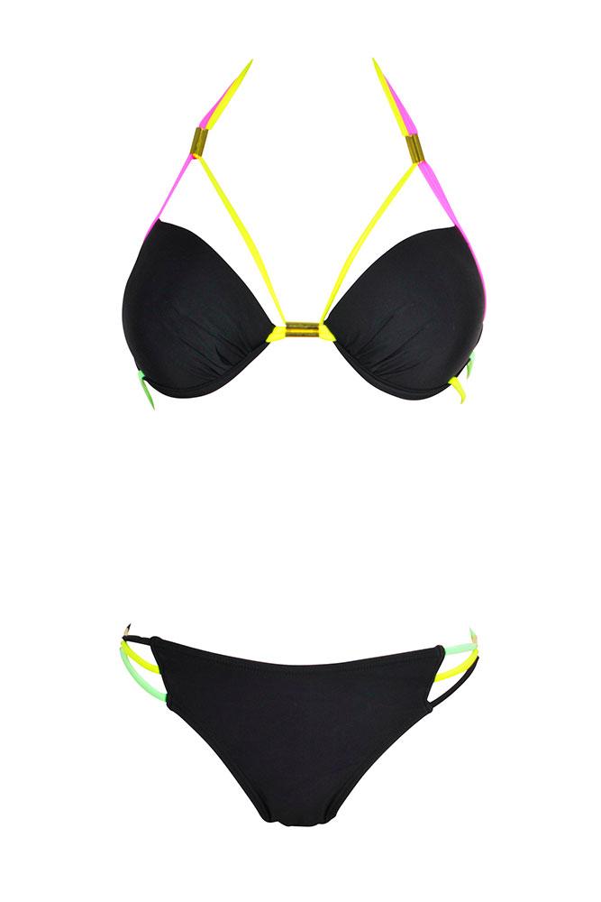 9d4d2afe5383e Bikini sexy femme noir Les Anges de la téléréalité - Eshop Dag Adom