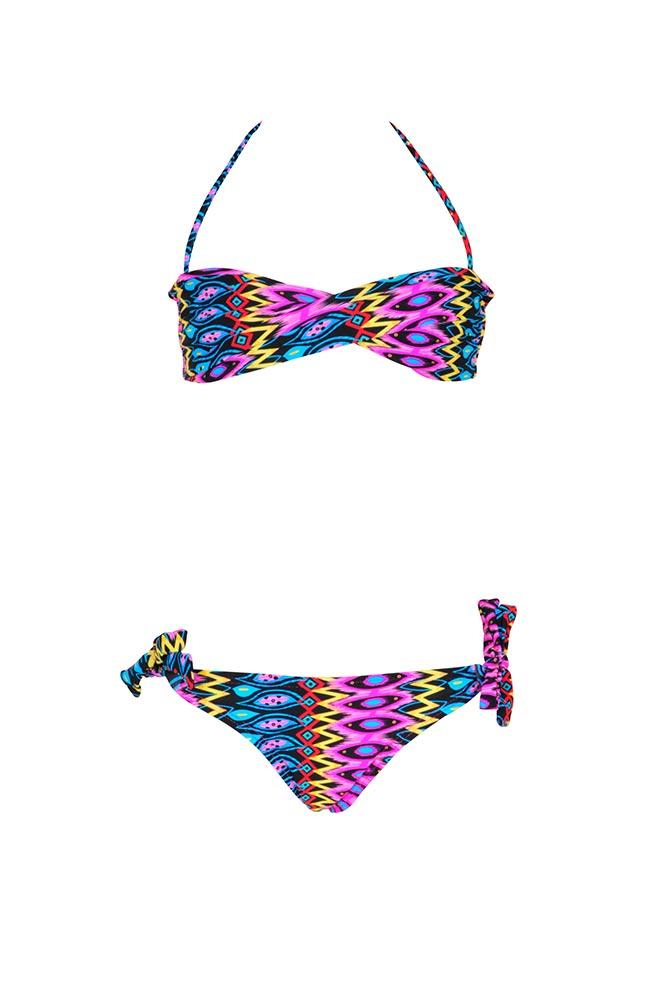 maillot de bain fille 2 pi ce multicolore maillots de bain pas cher. Black Bedroom Furniture Sets. Home Design Ideas
