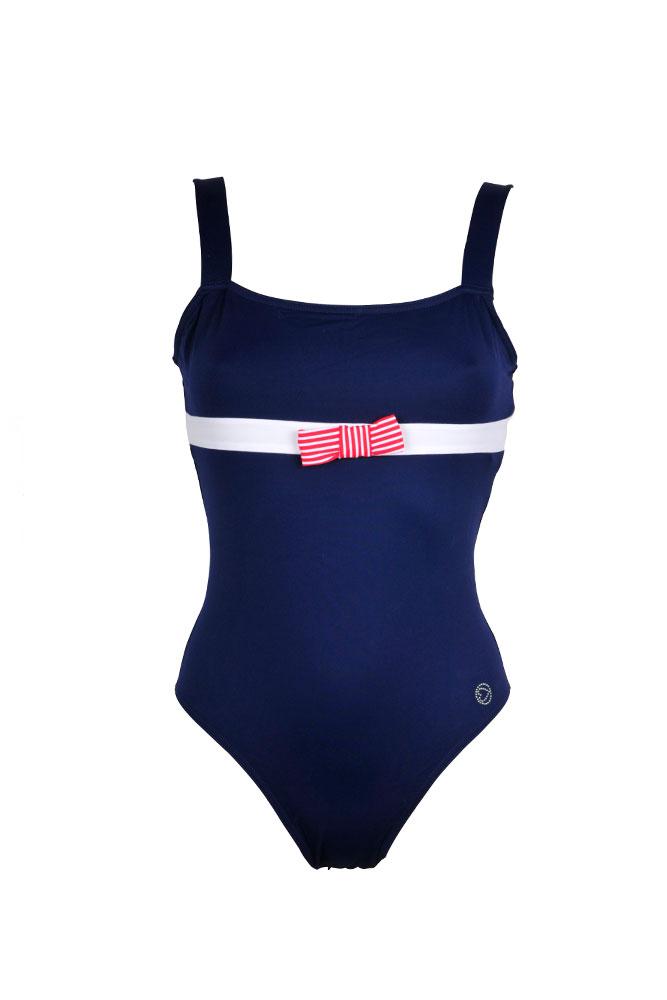 maillot bustier femme morgan maillot de bain une pi ce r tro bleu. Black Bedroom Furniture Sets. Home Design Ideas