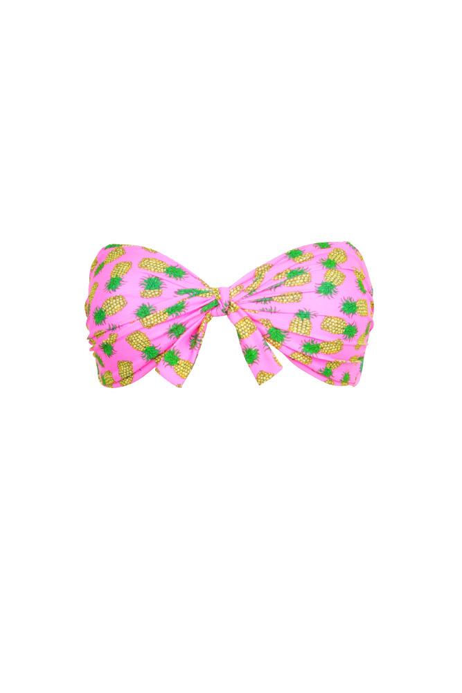 Maillot Fluo Bikini Bain Motifhaut Ananas Bandeau De Rose Mon YH92IEWD