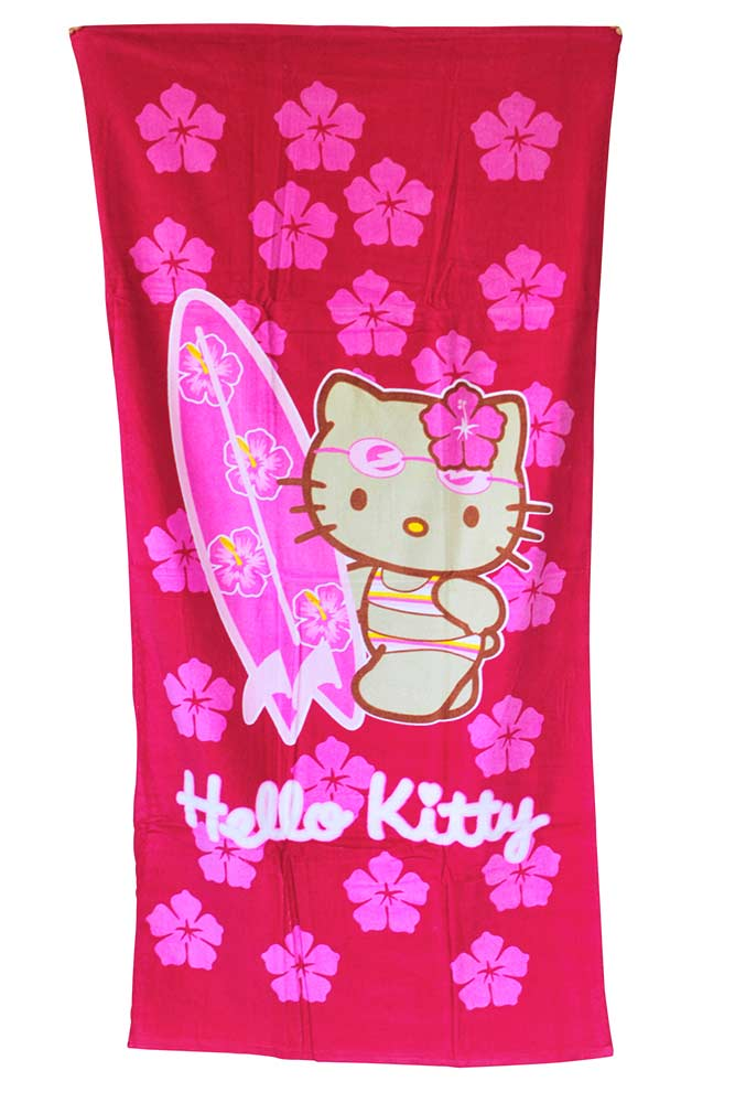 hello kitty serviette de plage hello kitty accessoire plage online. Black Bedroom Furniture Sets. Home Design Ideas