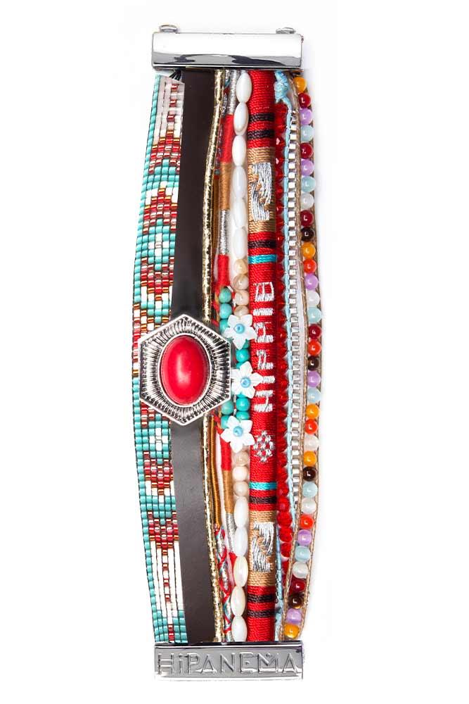 bracelet br silien rouge aimant hipanema boutique en ligne. Black Bedroom Furniture Sets. Home Design Ideas