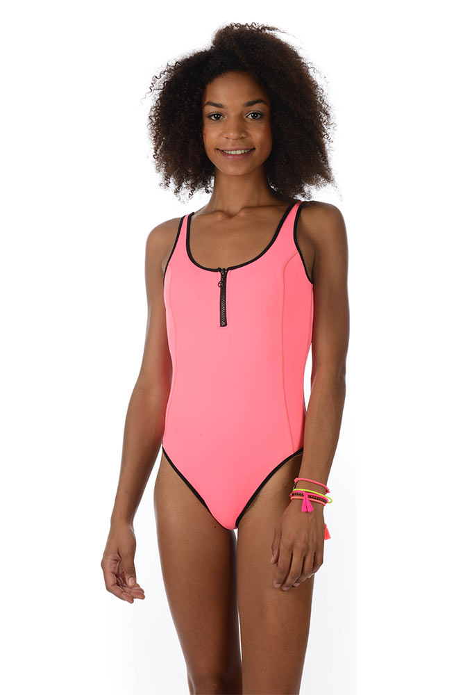 maillot-de-bain-1-pièce-neoprene-rose-Caribe-Cardio-U2N23