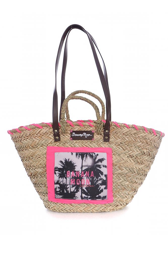 banana moon sac de plage rose panier de plage en paille tendance. Black Bedroom Furniture Sets. Home Design Ideas