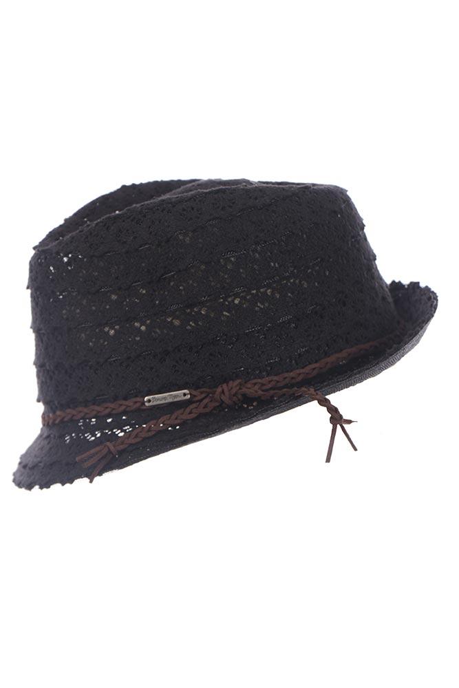 Chapeau de plage noir Fullsun Hatsy