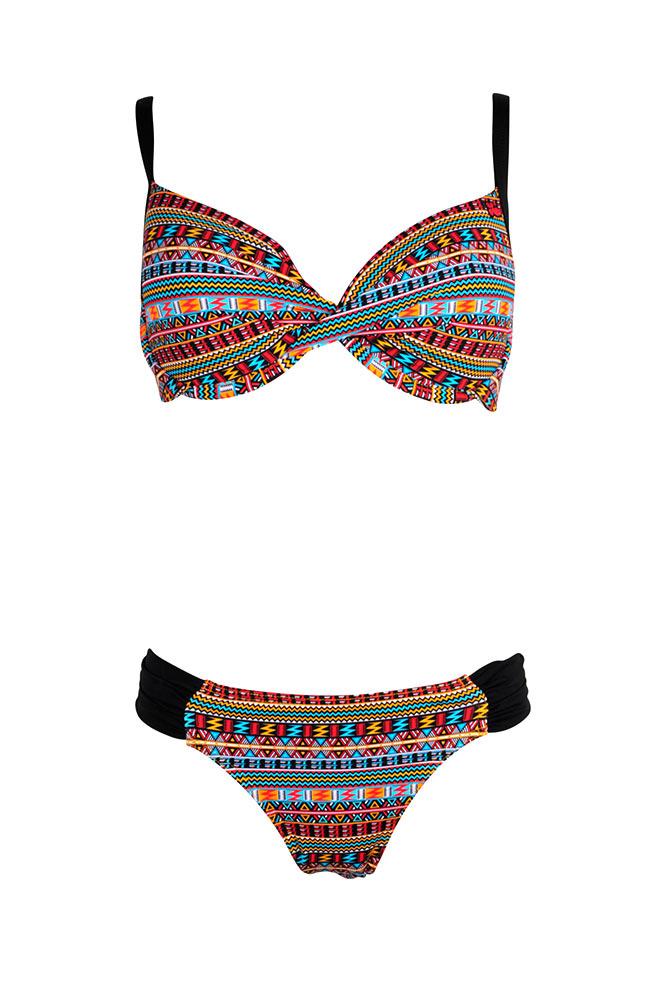 beau maillot bonnet d nouvelle collection bikini ethnique fashion. Black Bedroom Furniture Sets. Home Design Ideas