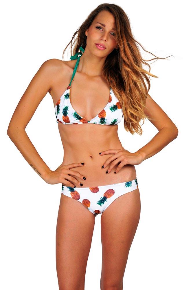 maillot de bain imprim ananas bikini tendance pas cher 2016. Black Bedroom Furniture Sets. Home Design Ideas