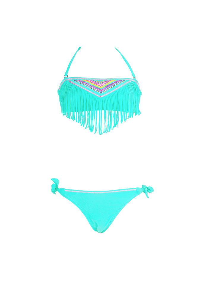 Maillot de bain vert collection enfant bikini fille for Maillot deux pieces piscine