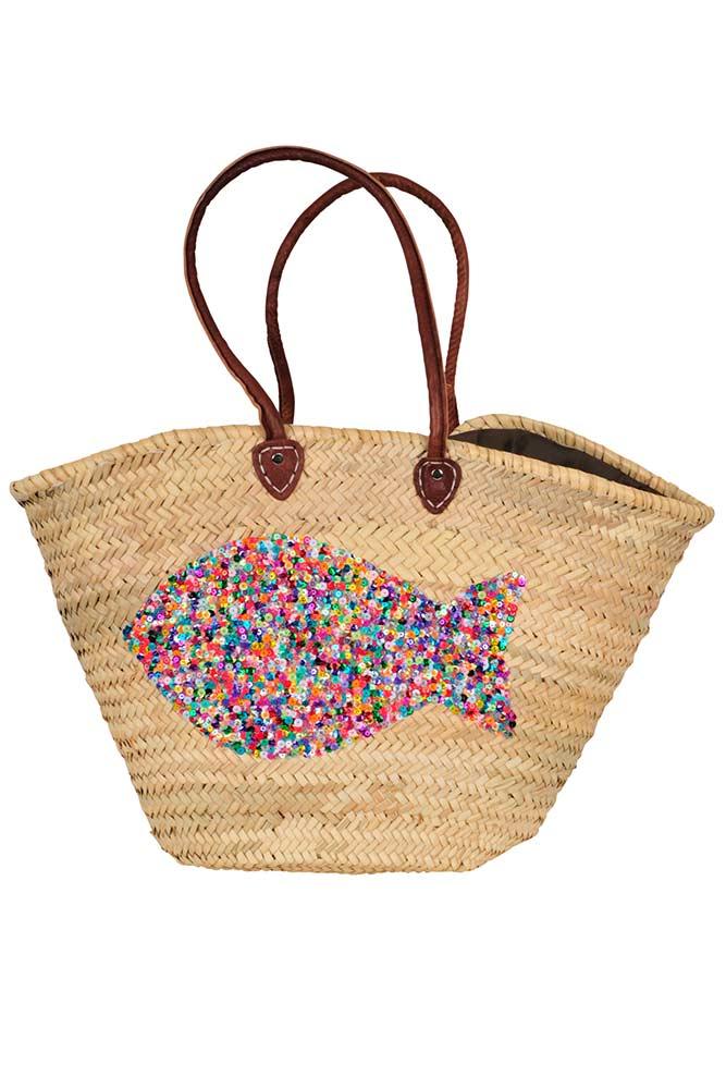 Panier Pas Cher : panier en osier sequins accessoires de plage collection 2016 ~ Teatrodelosmanantiales.com Idées de Décoration